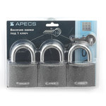 Замки висячие Apecs PD-01-63-Blister (3Locks+5Keys)