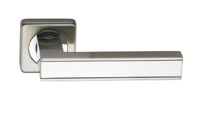 Ручки на квадратной накладкке SILLUR C159 S.CHROME/P.CHROME