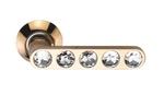 Ручки на круглой накладке SILLUR 200 P.GOLD/CRYSTAL