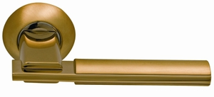 Ручки на круглой накладке SILLUR 94A S.GOLD/P.GOLD