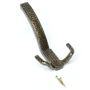 Крючок-вешалка со скрытым креплением КВС-3 бронзовый антик