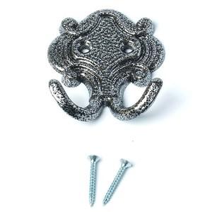 Крючок-вешалка КВ-02 серебряный антик