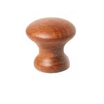 """Ручка-кнопка купол"""" бук тонир. """"кр. дерево"""" матовая"""""""